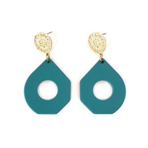 teal blue earrings