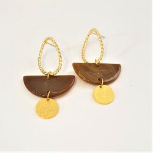 tan gold earrings
