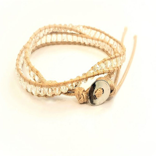 beige wrap bracelet