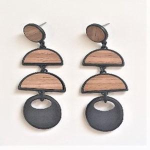 wood lazer cut earrings