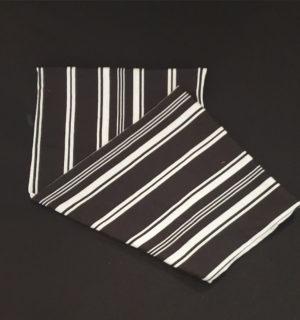 black white stripe buff