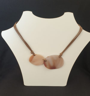 brown necklace shell